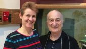 Professor Alison Wray with Sir Tony Robinson