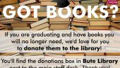 Graduating? Donate your books to the library!