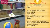 Summer 2014 – Opening Hours