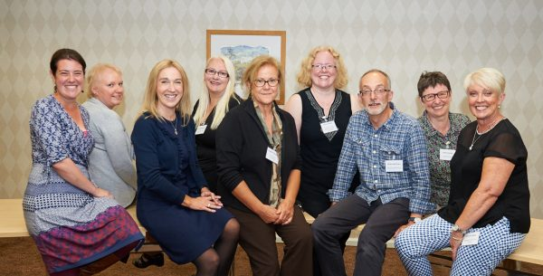 Delegates who presented at the event and Centre Director, Professor Kerry Hood (6th from left).