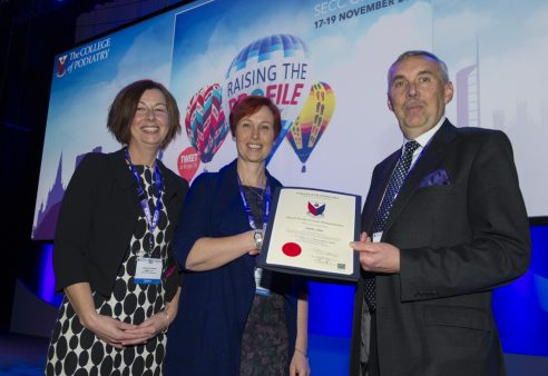 INDUCE study wins 'Jewel in the Crown' presentation at The College of Podiatry annual conference.