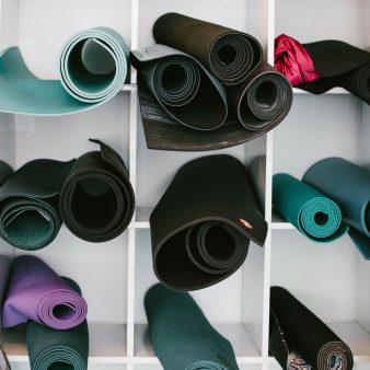 Yoga mats. Photo by Jordan Nix on Unsplash
