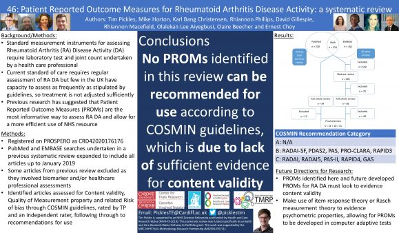 Poster presented at UK PROMs National Research Conference 2021.