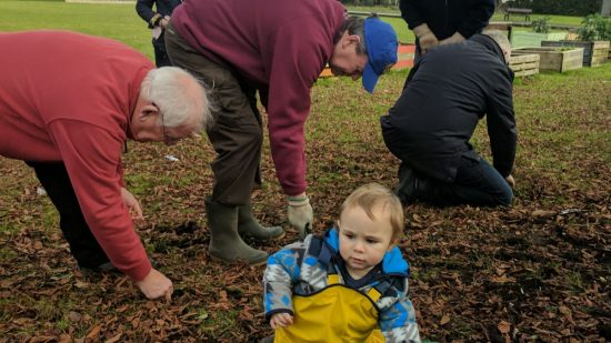 Grange Pavilion Gardeners back in action!