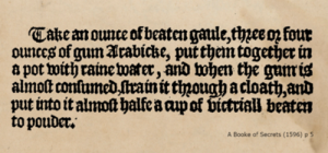 This is a recipe from the Dutch website dedicated to Iron Gall Ink:  https://irongallink.org/igi_index78f9.html
