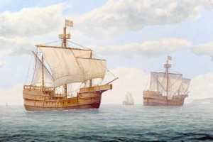 Painting of the Newport Ship by marine artist Peter Power, commissioned by the Friends of the Newport Ship (image from the South Wales Argus)