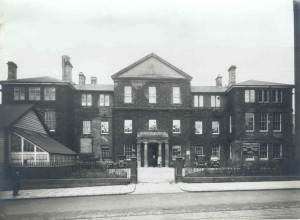 Photograph of the old college on Newport Road