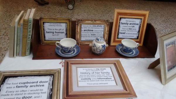 A display of personal artefacts