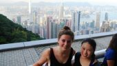 The bright lights of Hong Kong
