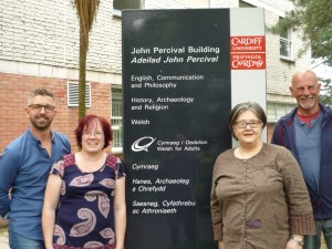 Exploring the Past pathway students graduating in 2016 including Daniel Jewson, Hayley Bassett, Penni Bestic, Tom Allen (left - right).