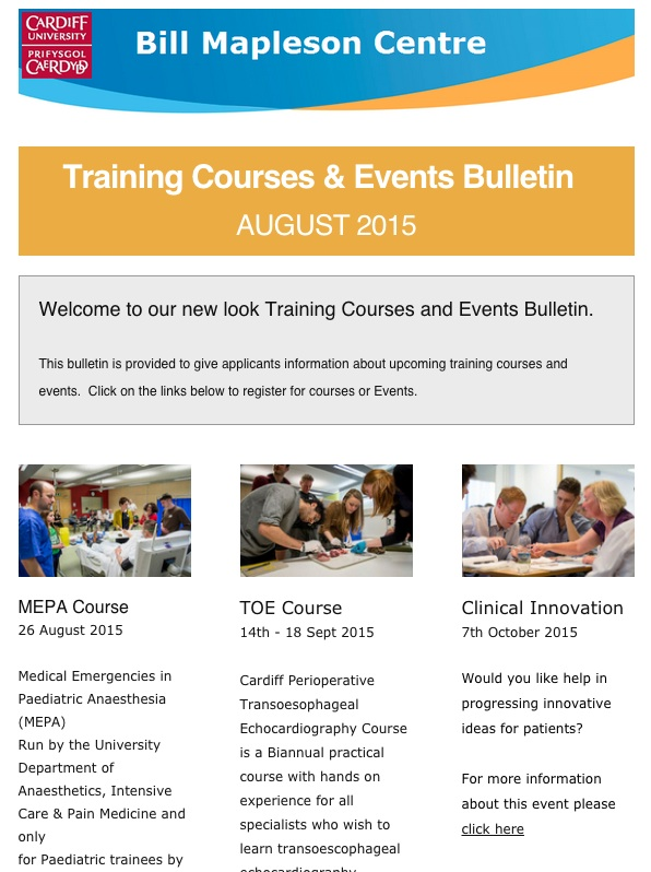Events and Courses Bulletin