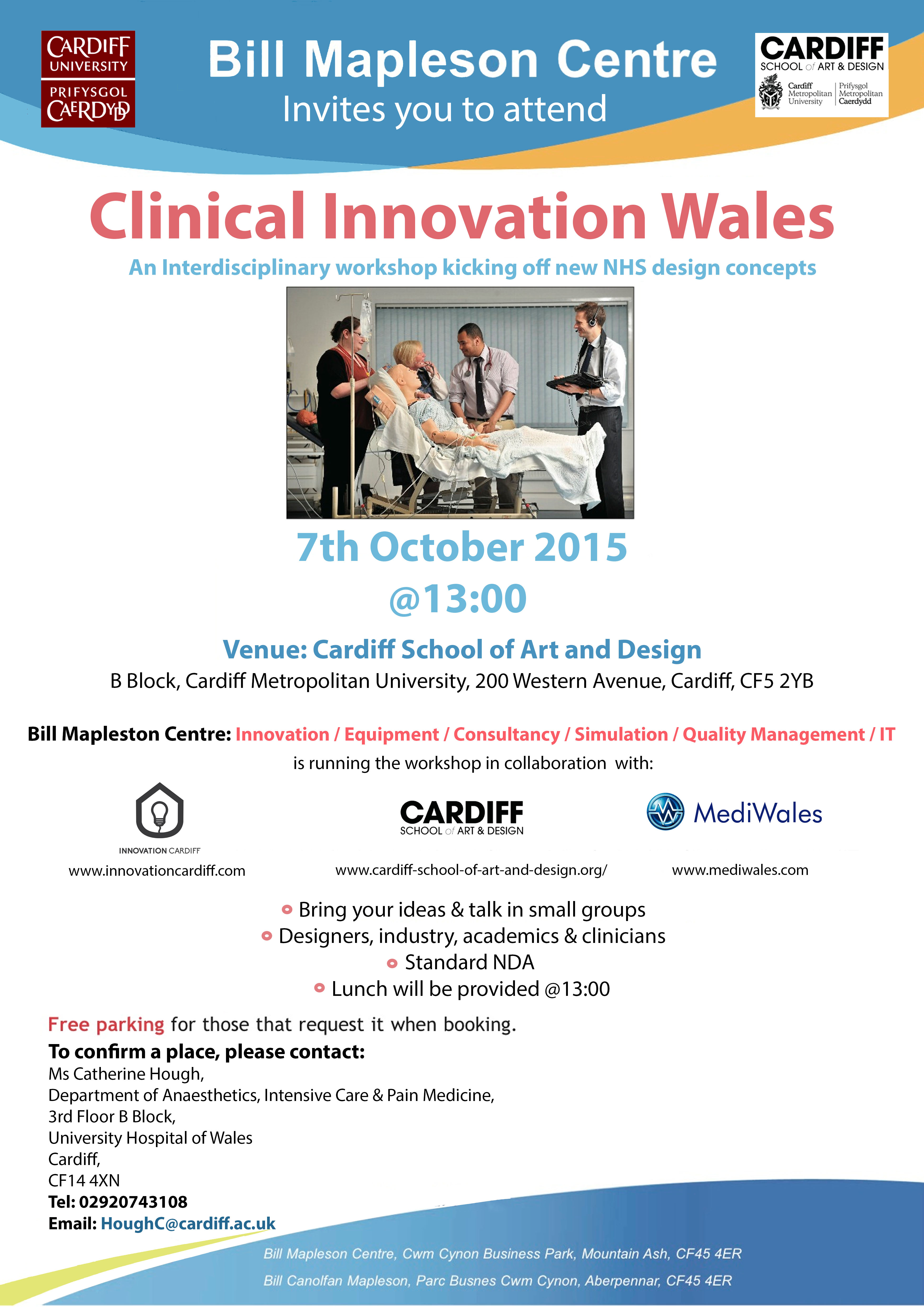 Clinical Innovation Wales: – October Workshop