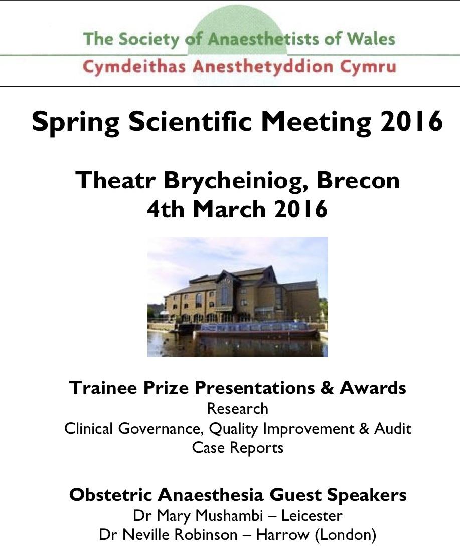 SAW Spring Scientific Meeting 2016