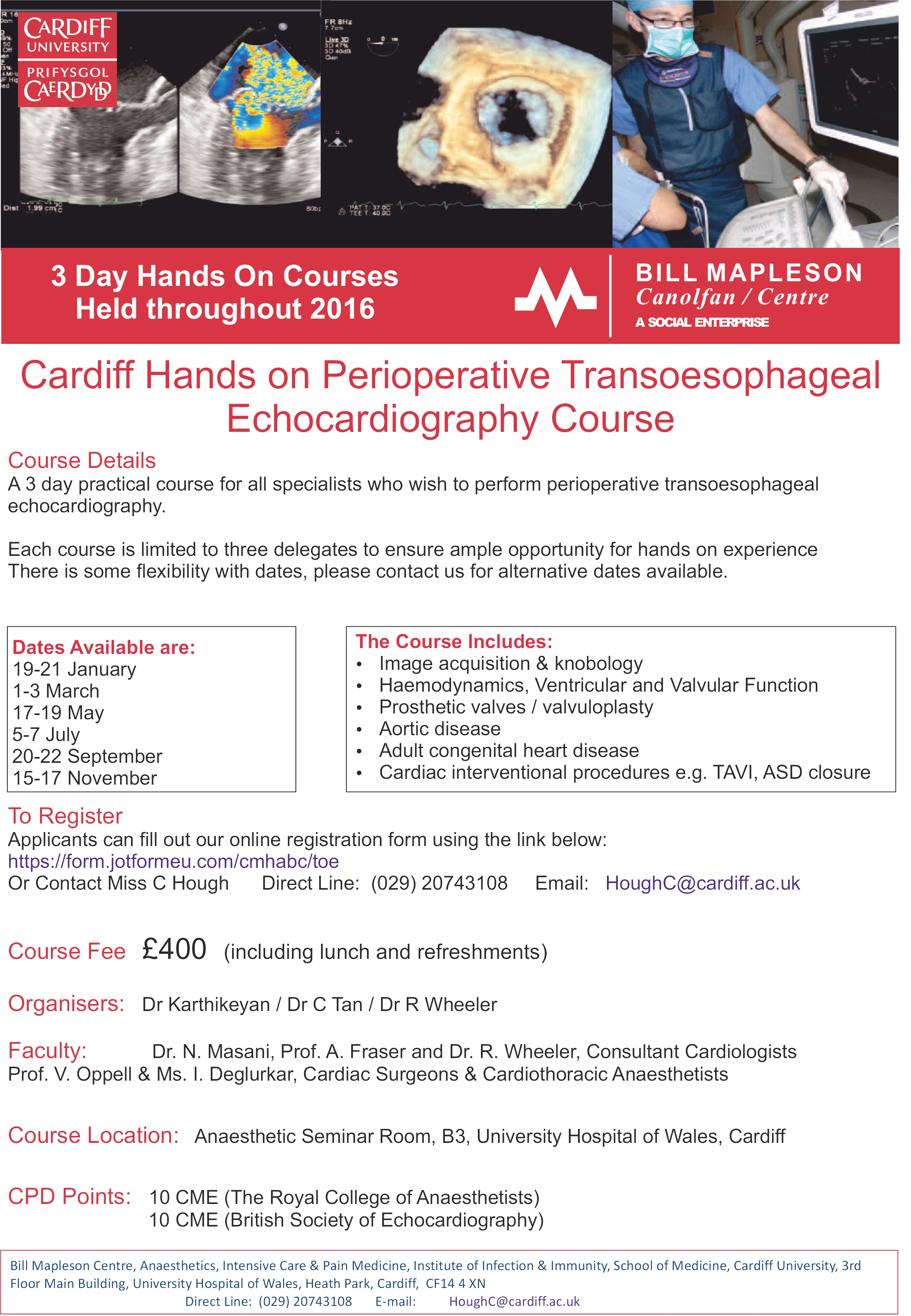 Perioperative Transoesophageal Echocardiography Symposium and Courses