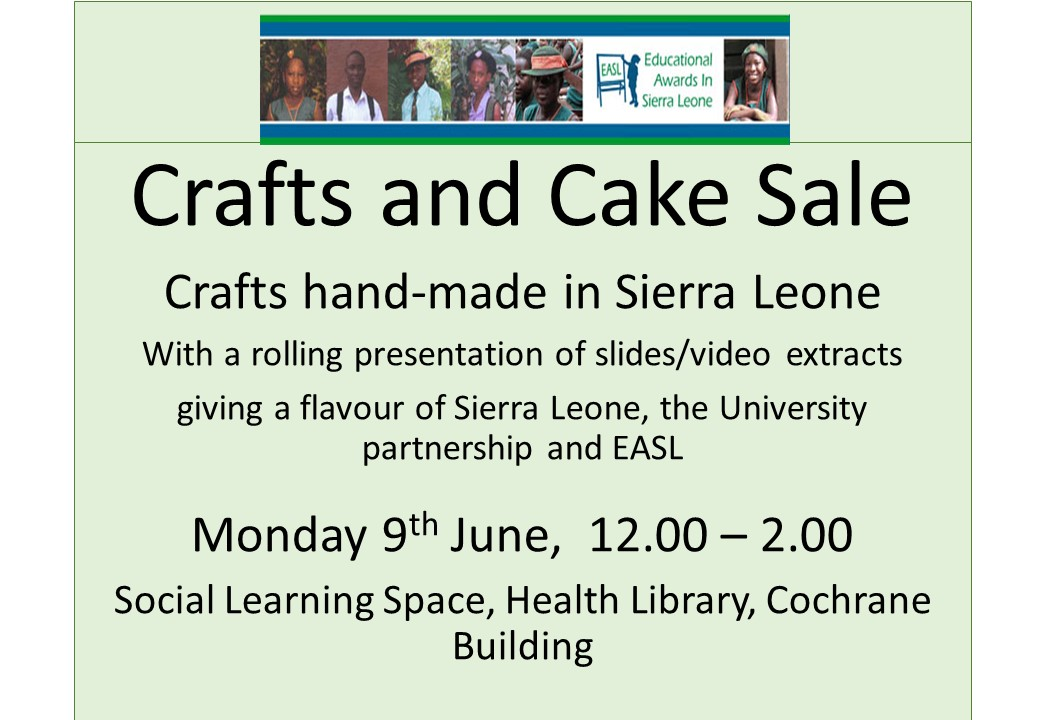 Crafts and cake sale