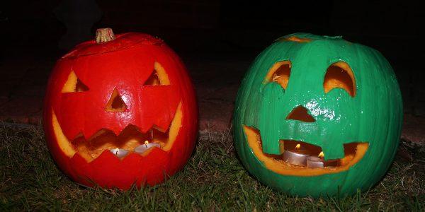 Some spooky pumpkins I carved last week