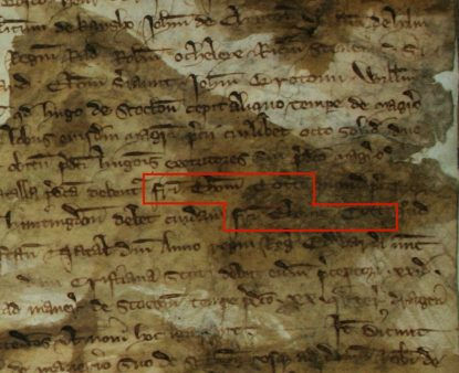 Close-up of the Templar investigations in 1309.