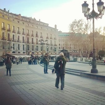 People walking around the Andalusian city of Cordoba.