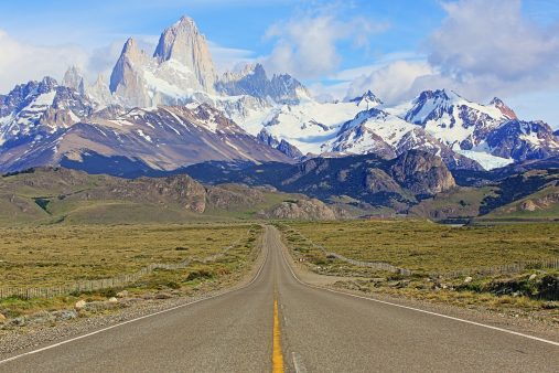 Cerro Torre and Fitz Roy, Route 23, El Chalten, Patagonia Argentina