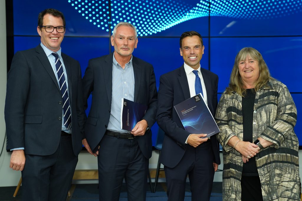 Professor Phillip Brown with Welsh Government Ministers