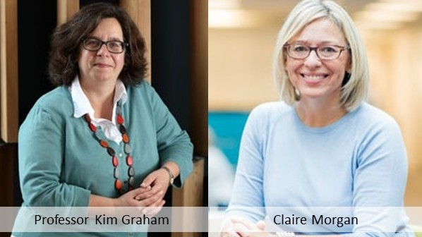 Kim Graham and Claire Morgan
